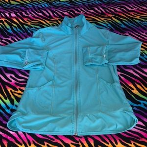 Danskin Now Green Blue Active Fitness Jacket Small